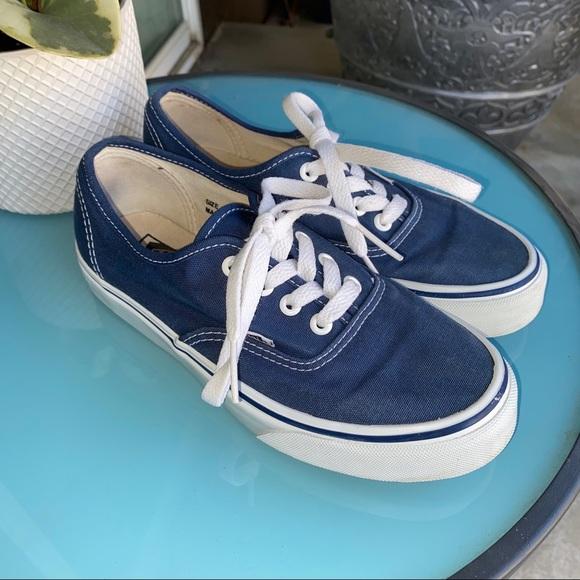 Classic blue lace up vans mens 5